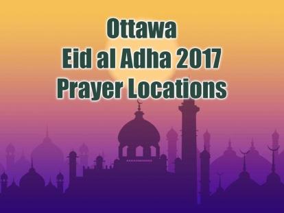 Ottawa Eid Al Adha 2017 Prayer Locations