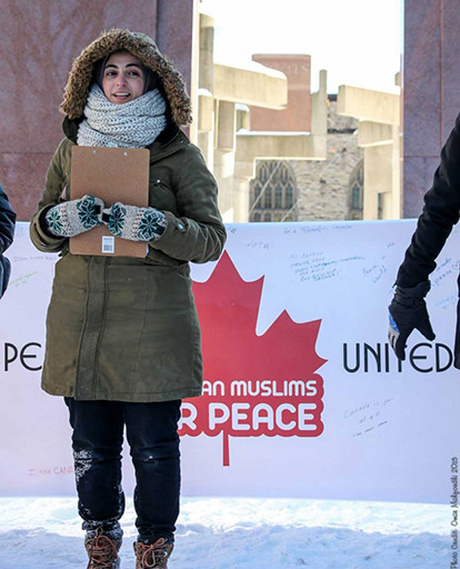 Ithar Abusheikha attended the Canadian Muslims for Peace gathering in Ottawa on January 31st.