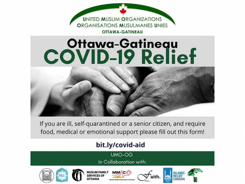 Ottawa-Gatineau United Muslim Organizations Offering COVID-19 Relief Support: Learn How to Get Help, Volunteer and Donate