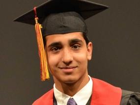 Noah Taj, 17, was chosen as valedictorian for Merivale High School's 2015 graduating class.