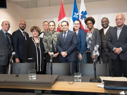 On February 4, Members of the Center for Research-Action on Race Relations (CRARR) joined City Councillors Abdelhag Sari (Marie-Clarac District) and Marvin Rotrand (Snowdon District) and other community groups such as Jamaica Association of Montreal; the Center for Justice for First Peoples and the Native Women's Shelter) to ask that Montreal police officers be equipped with body cameras.