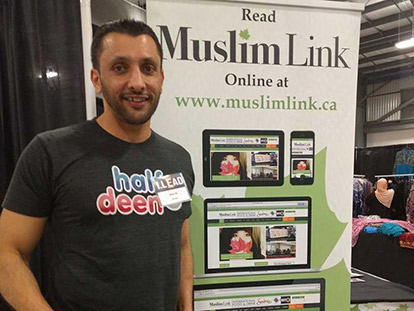 Baba Ali at the Muslim Link booth at the 2016 I.LEAD Conference