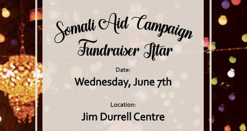 Local Somali Canadian university students have come together to organize a fundraising iftar to raise awareness and money to help people impacted by the drought and famine in Somalia.