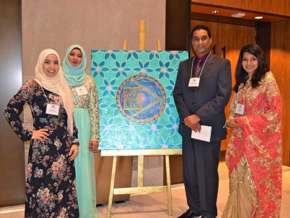 Artist Sabina Syed displayed her work at the first Unity Dinner organized by the Muslim Coordinating Council of the National Capital Region