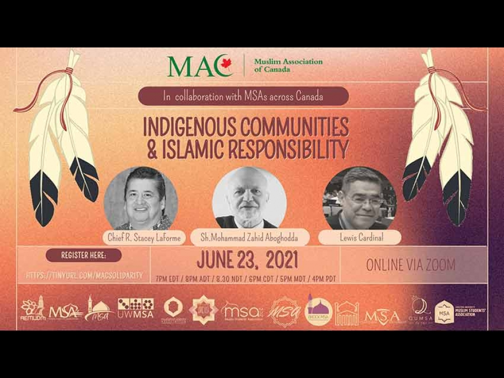 Muslim Association of Canada (MAC) and MSAs across Canada Organized a Session on Indigenous Communities and Islamic Responsibility: Watch Online