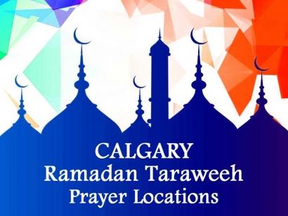 Calgary Ramadan Taraweeh Prayer Locations 2018