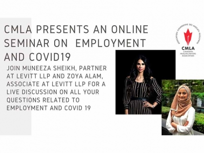 Watch Canadian Muslim Lawyers Association's Webinar about Employment and COVID-19