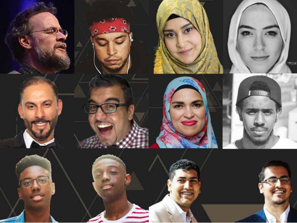 Some of the Muslim Canadian artists showcased at this year's Reviving the Islamic Spirit Conference in Toronto, Ontario.