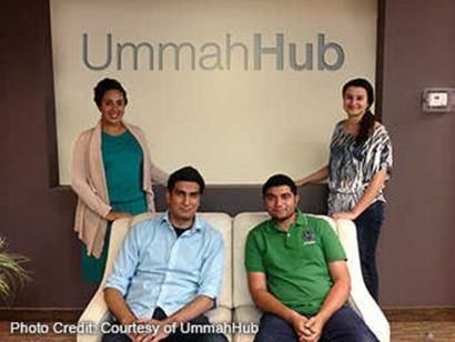 The UmmahHub team: Sonia Riahi, Ahsan Tajammul, Obaid Ahmed, and Yasmine Taha