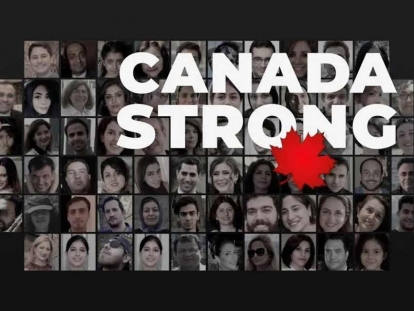 "The Toronto Foundation is running a fundraising campaign called ""Canada Strong"" to support the families of the victims of the crash of Flight PS752."