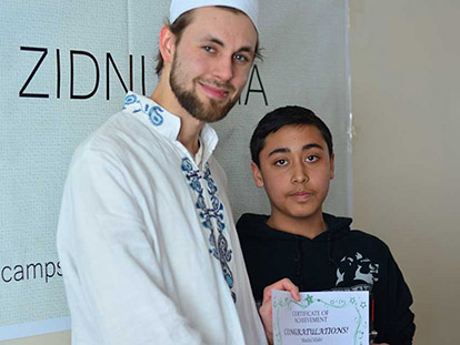 Mentor Henrik Vierula with 1st Prize Winner Irbaz Rehman