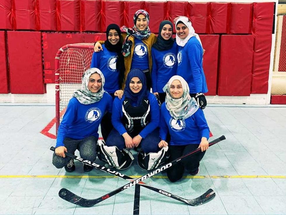 Meet the women of the Jaffari Hockey League in Thornhill, Ontario.