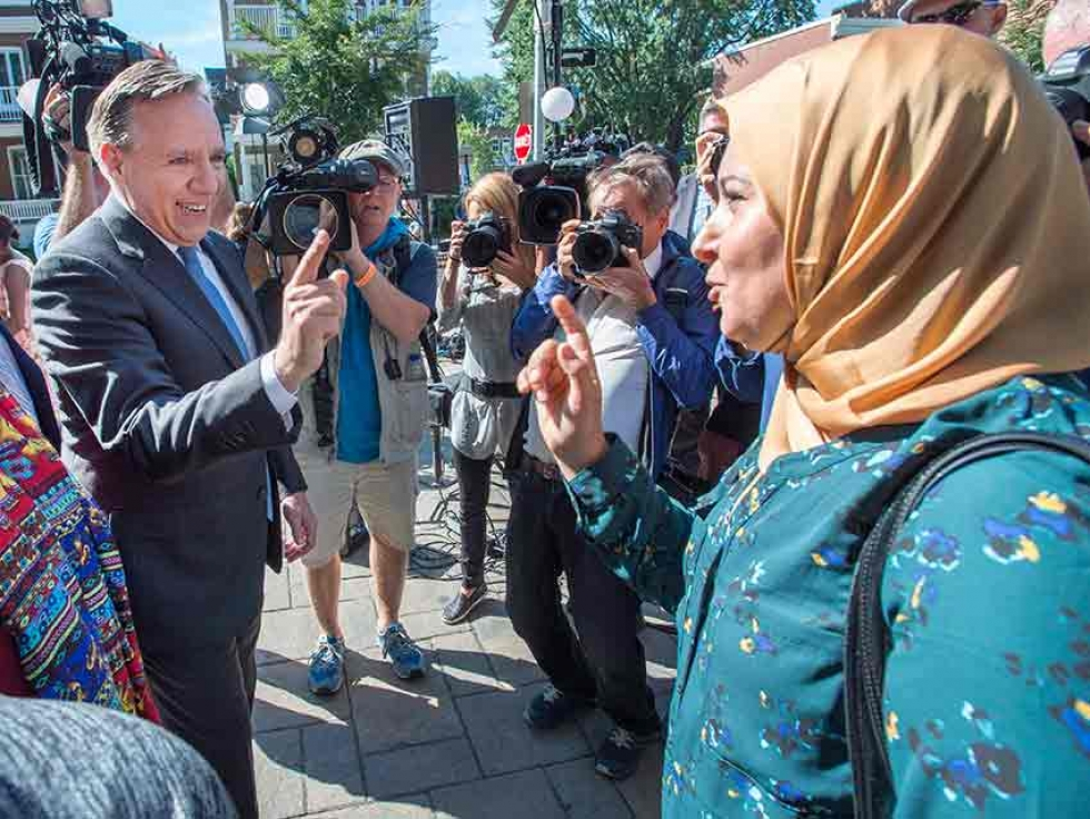 Coalition Avenir Québec leader François Legault on the campaign trail last September before the election that saw his party form a majority government.