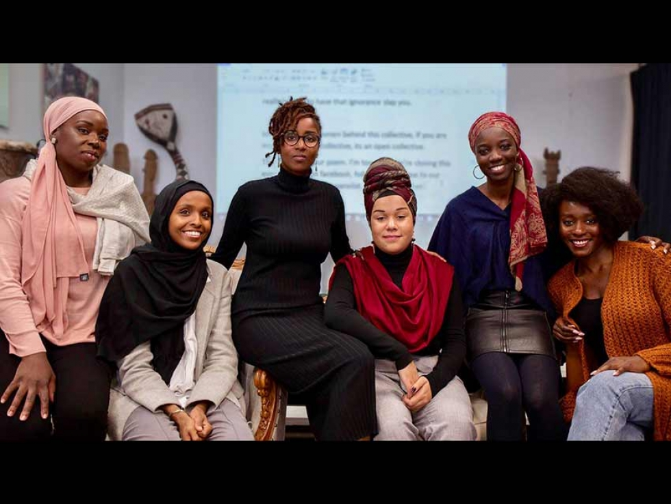 Founders of the Black Muslim Women in Quebec (Femmes Noires Musulmanes au Québec) and speakers at the initiative's launch in October 2018.