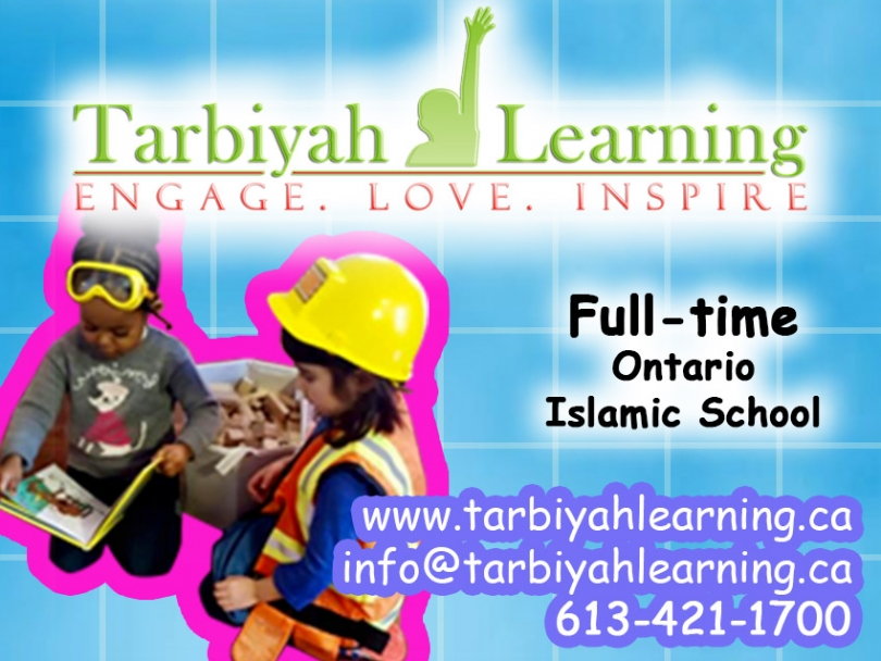 Looking for a full-time Ontario Ministry of Education recognized Islamic School in Ottawa? Check out Tarbiyah Learning, based in Masjid Jami Omar.