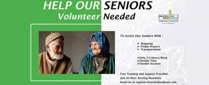Volunteer with the Muslim Food Bank Senior Support Program