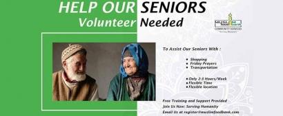 Volunteer with the Muslim Food Bank Senior Support Program