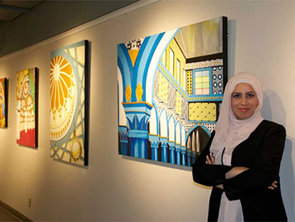 Palestinian Canadian Suzanne Ragheb is an Ottawa artist and educator.