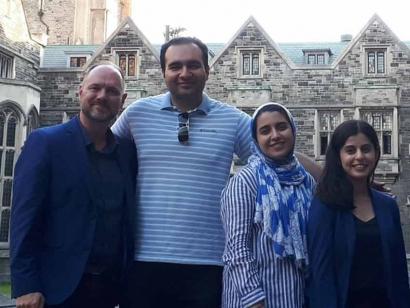 Mohammad Asadi-Lari and his sister Zeynab Asadi-Lari with Bushra Ebadi and Sébastien Goupil (June 2019)