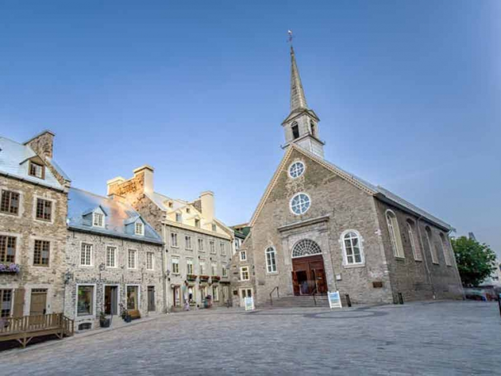 Église Notre-Dame-des-Victoires, in Old Québec. Of that city's population, 93.6 per cent call themselves Catholic.