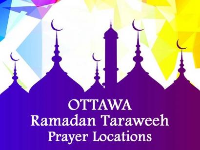 Ottawa Ramadan Taraweeh Prayer Locations 2018
