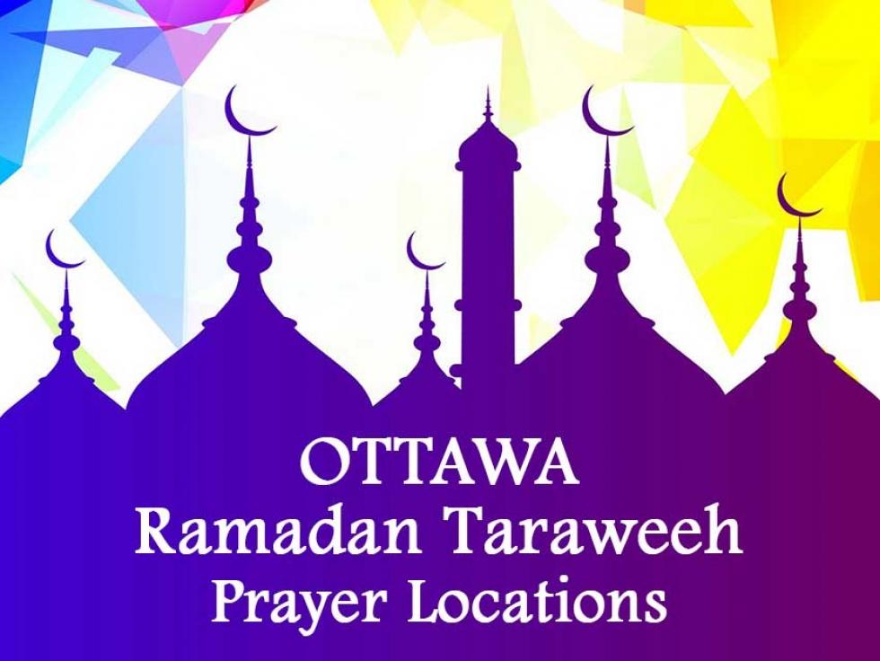Ottawa Ramadan Taraweeh Prayer Locations