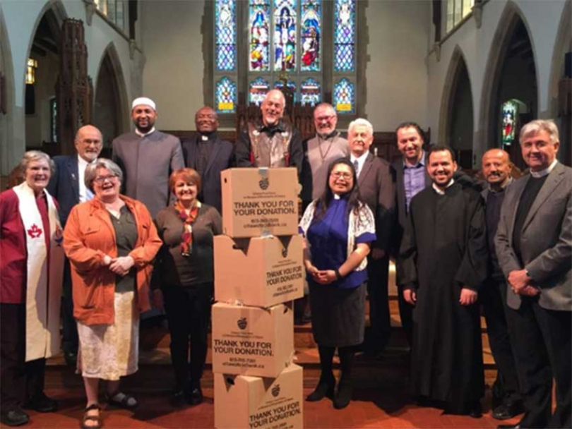 Ottawa First Nations, Muslim, Jewish, and Christian spiritual leaders have come together to encourage their communities to donate to the Ottawa Food Bank Mother's Day weekend.