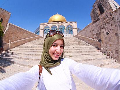 Palestinian Canadian photographer and animator Nour Ahram in Jerusalem