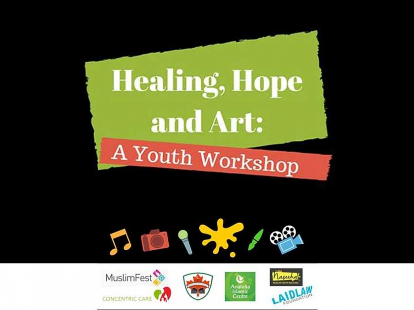 Healing, Hope and Art is a two part project that provides art therapy for Muslim students and an anti-Islamophobia awareness campaign aimed at engaging the general public.