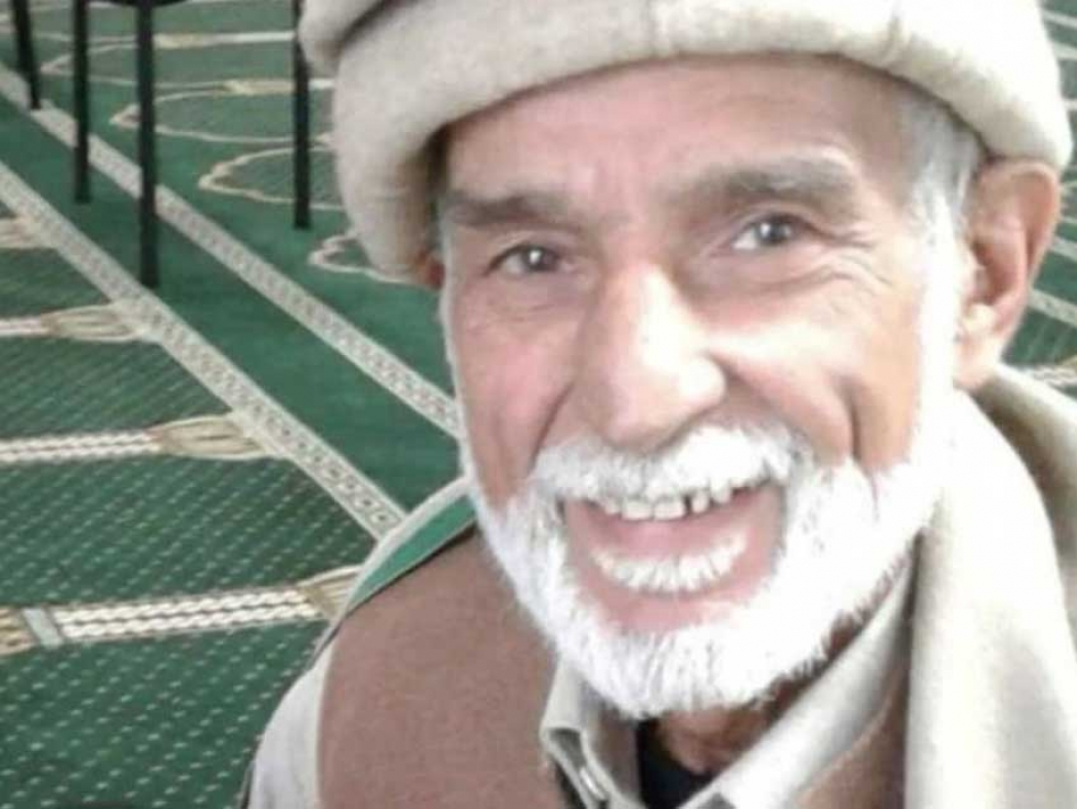 71-year-old grandfather Haji-Daoud Nabi, who was shot as he welcomed a stranger to his mosque.