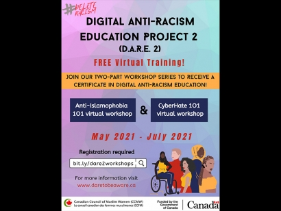 Sign Up for the Canadian Council of Muslim Women's Digital Anti-Racism Education Project Trainings