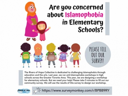 Fill Out the Rivers of Hope Survey on Islamophobia in Elementary Schools