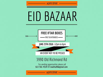 Check Out The Third Annual Eid Bazaar at Jami Omar This Saturday