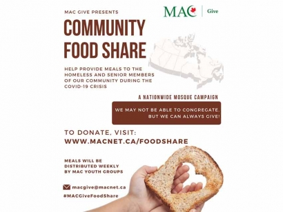 Muslim Association of Canada (MAC) MAC Give Community Food Share Campaign Offering Support Nationally