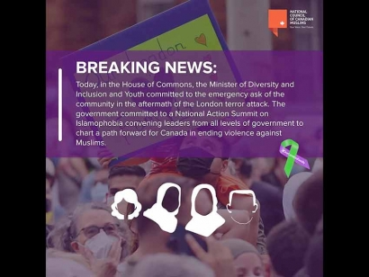 Government Commits to National Action Summit on Islamophobia