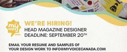 Muslim Youth (MY) VOICE Canada Head Designer (For Youth Ages 15 to 29)