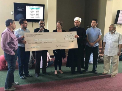 The South Nepean Muslim Community (SNMC) Donates $14,500 to the Red Cross for BC Fire Victims