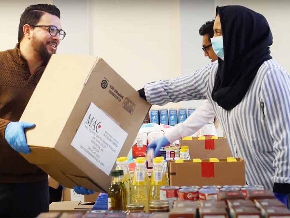 MAC Edmonton volunteers prepare Ramadan Care Packages
