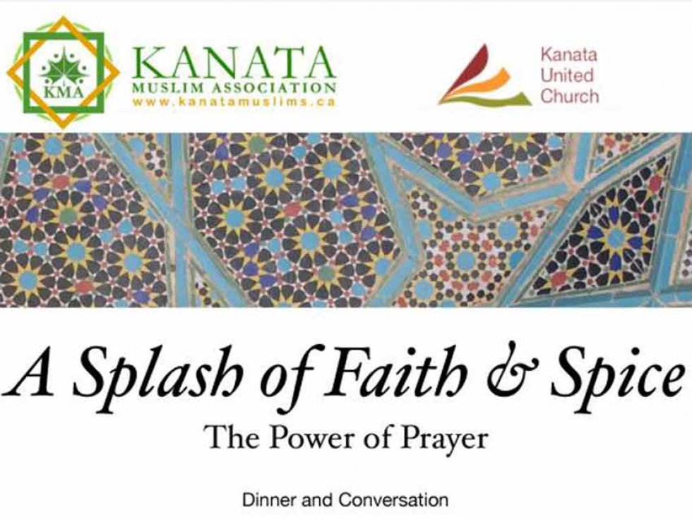 The Kanata Muslim Association (KMA) has partnered with the Kanata United Church (KUC) to organize their third annual joint fundraising dinner for Caldwell Family Centre.