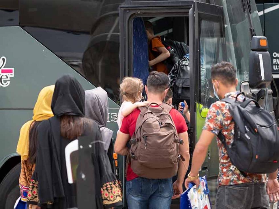 Afghan refugees arriving in Canada