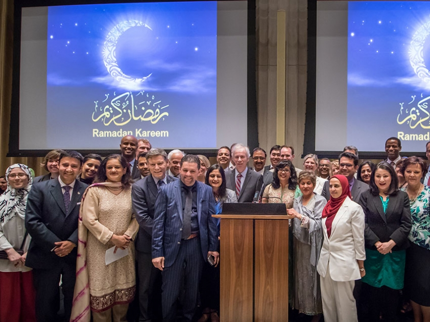 On June 15, members of Ottawa's Muslim communities were invited for an iftar (meal to break the Ramadan fast) on Parliament Hill sponsored by 19 Members of Parliament. The event was co-sponsored by the National Council of Canadian Muslims (NCCM) and Paramount Fine Foods.