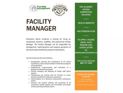 Edmonton Islamic Academy Facility Manager