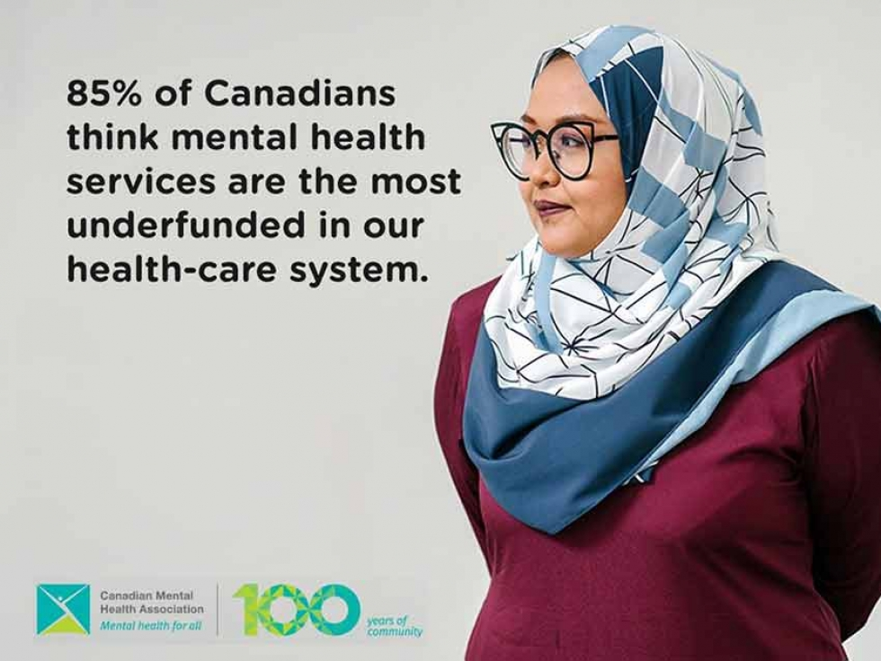 The Canadian Mental Health Association shared this image on social media as part of a campaign to raise awareness about the under-funding of mental health services. Learn more here https://cmha.ca/blogs/6-reasons-to-adopt-health-parity