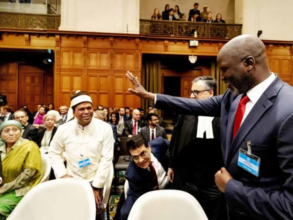 Gambian Justice Minister Abubacarr Tambado at the International Criminal Court.
