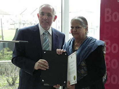 Mashooda Syed and Safia Rasheed awarded