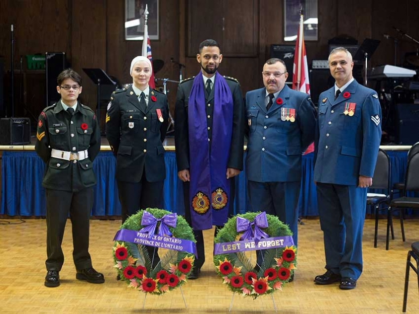 Muslims currently serving or aspiring to serve in the Canadian Armed Forces: Cadet Cpl. Mujahid Shaikh, Master Corporal Melissa Rawlyk, Capt (Imam) Ryan Carter, Capt (Imam) Suleyman Demiray, and Master Corporal Noufel Ouali