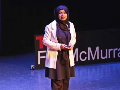 In 2015, Kiran Malik-Khan was a speaker at TEDxFortMcMurray in Fort McMurray, Alberta.