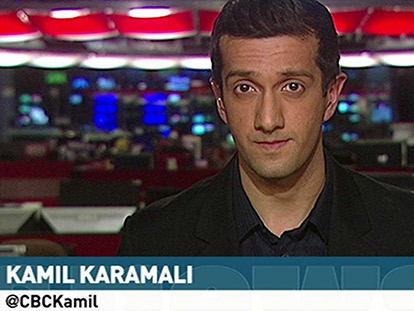 Kamil Karamali reporting on CBC Ottawa