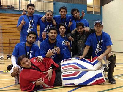 The Stallions (above) took won this year's 35th Montreal Muslim Ball Hockey Tournament
