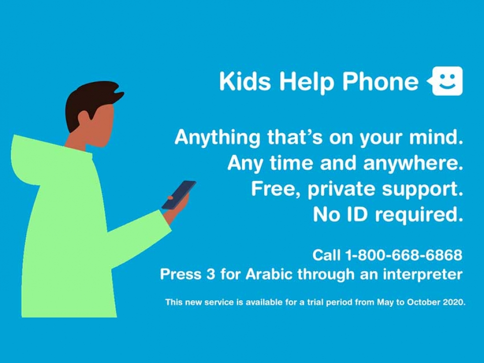 Kids Help Phone Pilot Project Makes Services Accessible to Arabic-Speaking Youth Across Canada